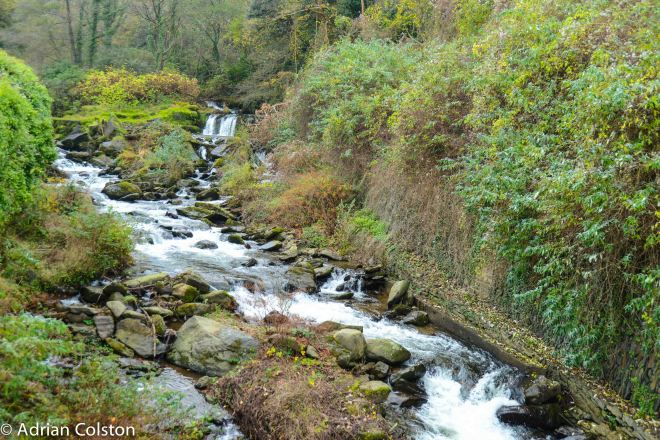Lynmouth river waterfall