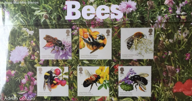 RM Bee stamps