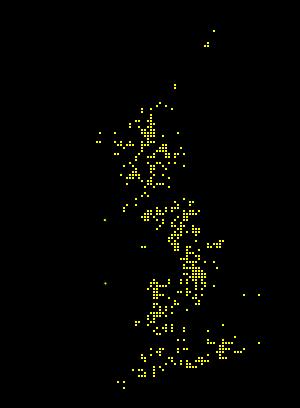 Sericomyiia lappona map