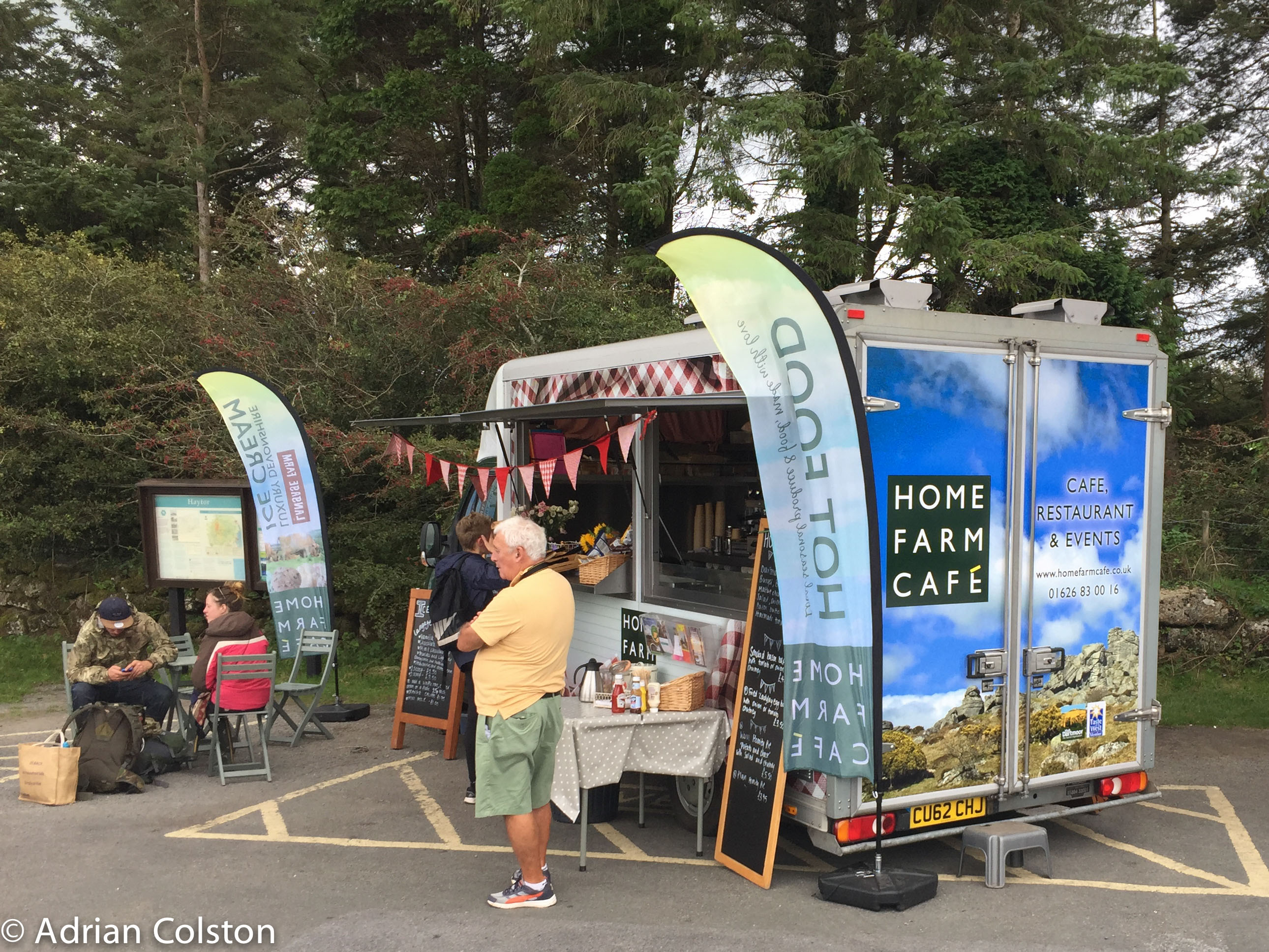 Back Down To The Car Park For A Cup Of Tea And Piece Flapjack With My Old Friends From Home Farm Cafe